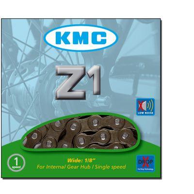 """Chaîne vélo KMC 1 Vitesse Z1 1/2"""" x 1/8"""" 112M Marron"""
