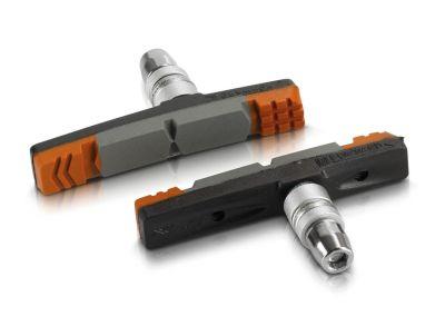 Porte-patins XLC V-Brake BS-V09 70 mm (x4) Noir/Gris/Orange