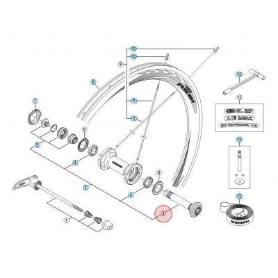 Axe Avant pour roue Shimano Ultegra 6800 WH-6800-F