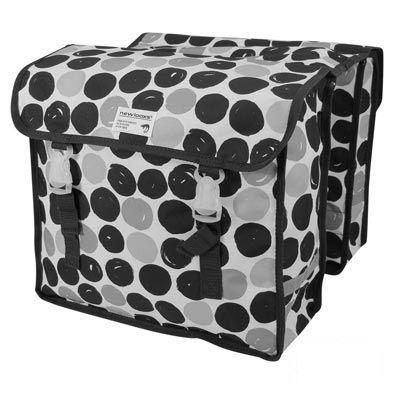 Sacoche double New Looxs Fiori À Pont sur porte-bagages 30 L Noir à pois