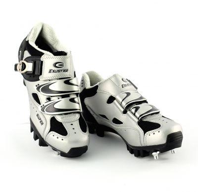 Chaussures VTT Exustar E-SM321 Microclip Gris