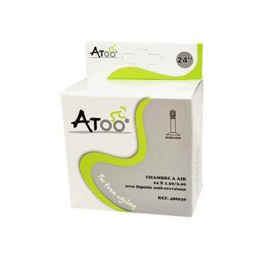 Chambre à air ATOO 24 x 1.5/2.00 Schrader 40 mm Avec liquide anti-crevaison