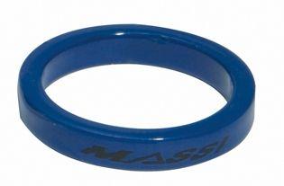 """Entretoise de direction Massi 1"""" 5 mm Bleu (x4)"""