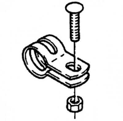 Collier de tube rond SRAM diam. 18mm