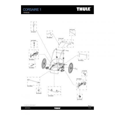 Adaptateur d'axe Thule - 41193032