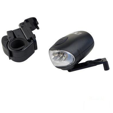 Éclairage AV M-Wave LEDs rechargeable par dynamo manuelle Noir