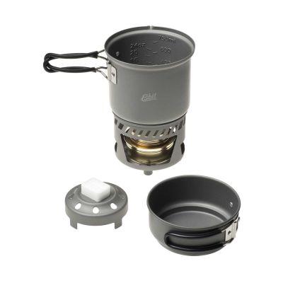 Set de cuisson Esbit 985 ml Alu avec réchaud à alcool CS985HA