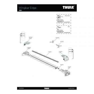 Cache de fixation droit Thule 959 - 52334