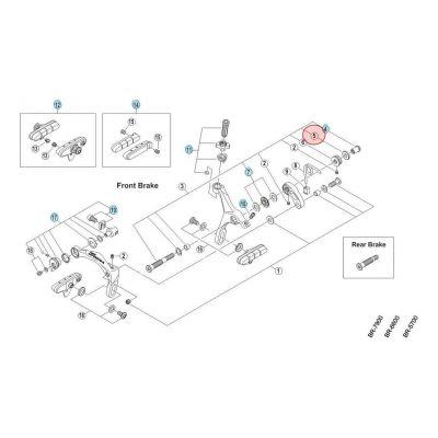 Entretoise Étrier de frein Shimano Ultegra 6700 2 mm
