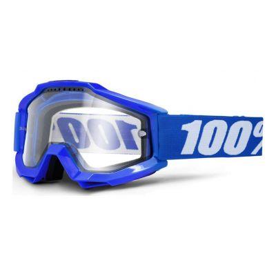 Masque 100% Accuri Enduro Reflex Blue/Clear Vented