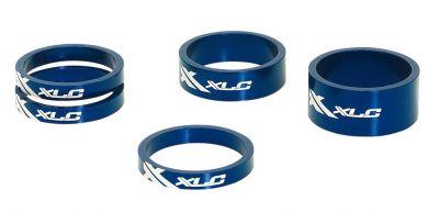 Set entretoises A-Head XLC AS-A02 1.1/8'' Alu Bleu