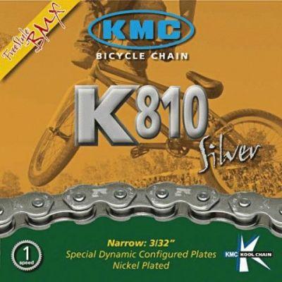 "Chaîne KMC K810 Silver Kool Serie 1V 3/32"" 100M Argent"