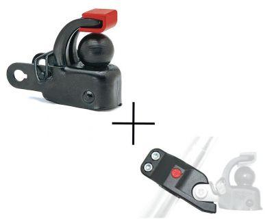 Attelage remorque Hebie F1 + adaptateur de tige de selle 0501E