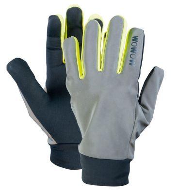 Gants longs Wowow Dark Glove 2.0 Gris/Jaune réfléchissant