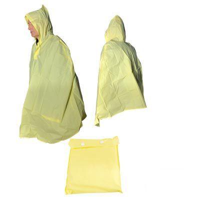 Poncho de pluie PVC avec pochette de rangement