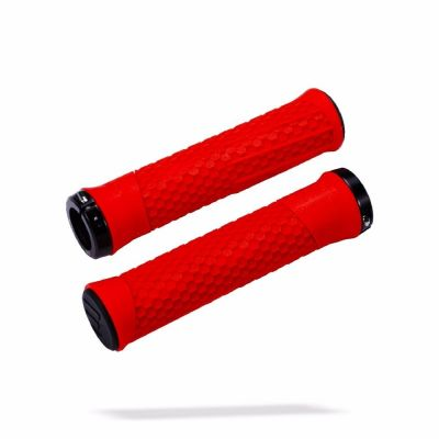 Poignées BBB Python lock-on 142 mm Rouge/Noir - BHG-95