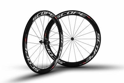 Roues carbone Scope R5c 55 mm pneu Campagnolo 11V Blanc
