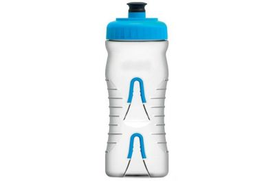 Bidon et supports Fabric 600 ml Transparent/Bleu