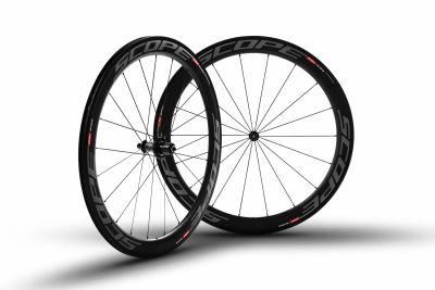 Roues carbone Scope R5c 55 mm pneu Campagnolo 11V Gris