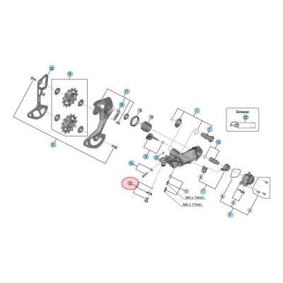 Visserie Fixation Câble Shimano RD-M9100