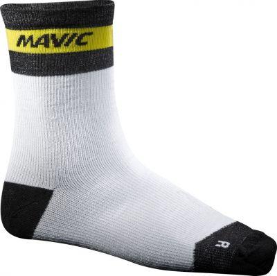 Chaussettes Mavic Ksyrium Merino Sock Blanc