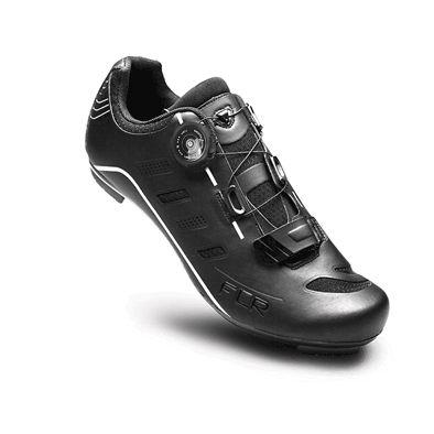 Chaussures Route FLR Pro F-22 Serrage molette + Bande auto agrippante Noir