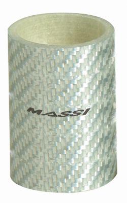 """Entretoise de direction Massi Silver Carbon 50 mm 1.1/8"""""""
