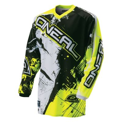 Maillot O'Neal Element Shocker Hi-viz Enfant Noir/Jaune