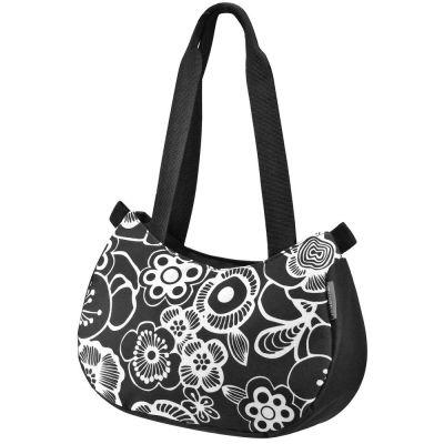Sac à main KLICKfix Stylebag + support de guidon Noir/Fleur