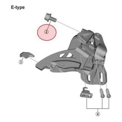 Vis Fixation Cable Shimano FD-M4000