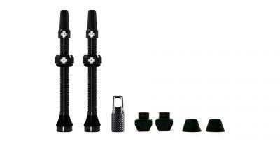 Kit de valves tubeless Muc-Off 60 mm Noir (Paire)