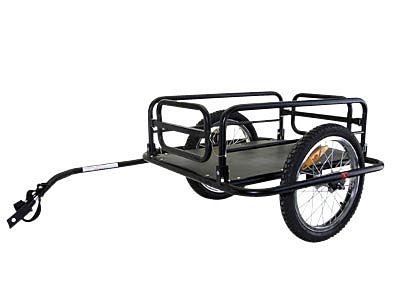 """Remorque utilitaire vélo Roues 16"""" Noir"""