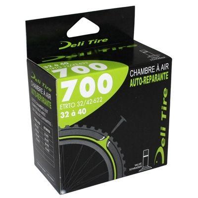 Chambre à air anti-crevaison Deli Tire 700 x 32/40C Valve Schrader