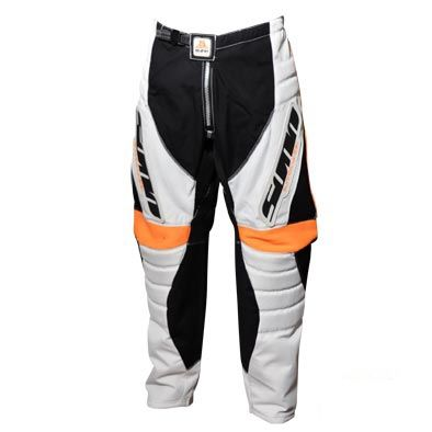 Pantalon BMX Adulte Lynx Blanc/Noir/Orange