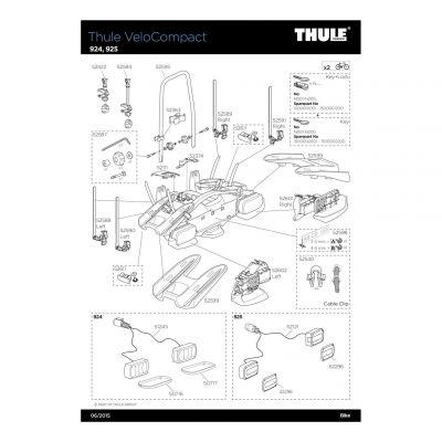 Sangle de roue 2ème rangée gauche Thule VeloCompact - 52590