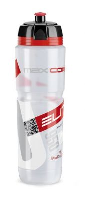 Bidon Elite Super Corsa 950 ml transparent, logo rouge