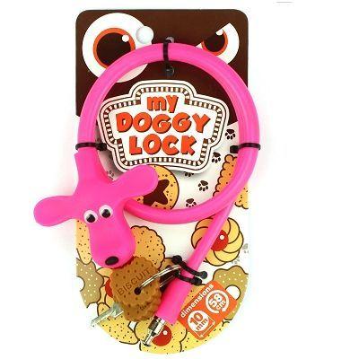 Antivol My Doggy Lock à clé 580 x 10 mm Rose