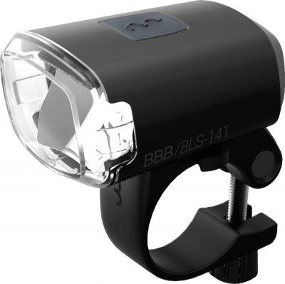 Éclairage avant BBB Stud rechargeable USB Noir - BLS-141