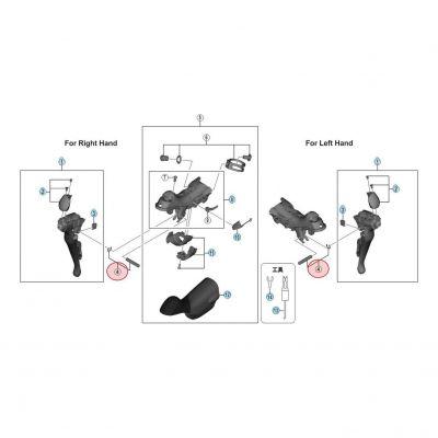 Axe Levier Et Circlip pour manette Shimano Dura-Ace 9000 ST-9001