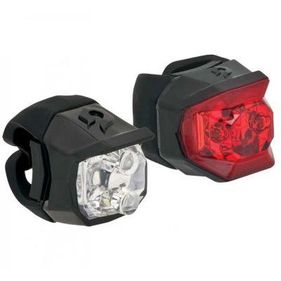 Éclairages avant et arrière Blackburn Click Combo 15 lumens Noir