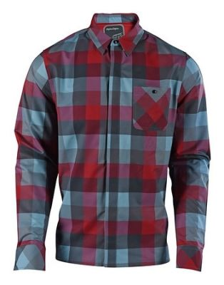 Chemise Troy Lee Designs Grind High Risk Rouge