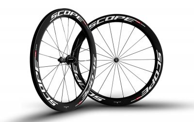 Roues Scope R5C 55 mm Shimano 11V Blanc (Paire)