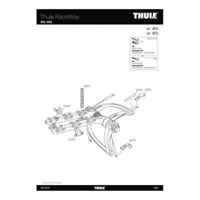 Pièce de rechange de support de cadre Thule 991,992 - 52450