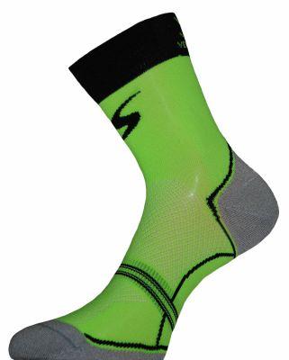 Chaussettes Ventura Socks Carbone Classic Vert fluo/Noir