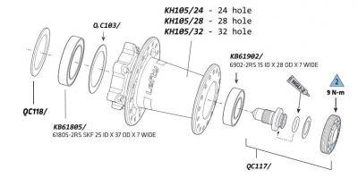 Rondelles de calage Cannondale pour moyeu Lefty (x5)