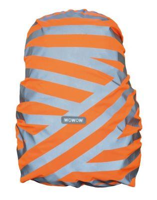 Housse pour sac à dos Wowow Berlin avec bandes réfléchissantes Orange/Argent