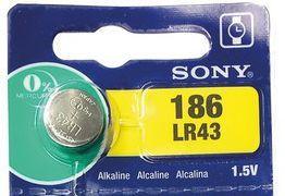 Pile bouton Sony LR43 1.5V Alcaline