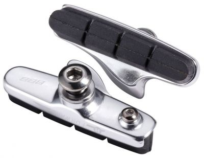 Porte-patins + patins BBB Roadstop type Shimano (argent) - BBS-02