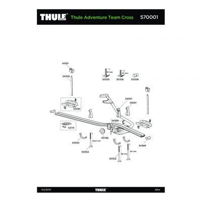 Support de roue avec bouton rapide Thule - 52352