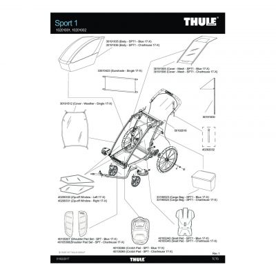Couverture Thule Sport 1 - 30191512